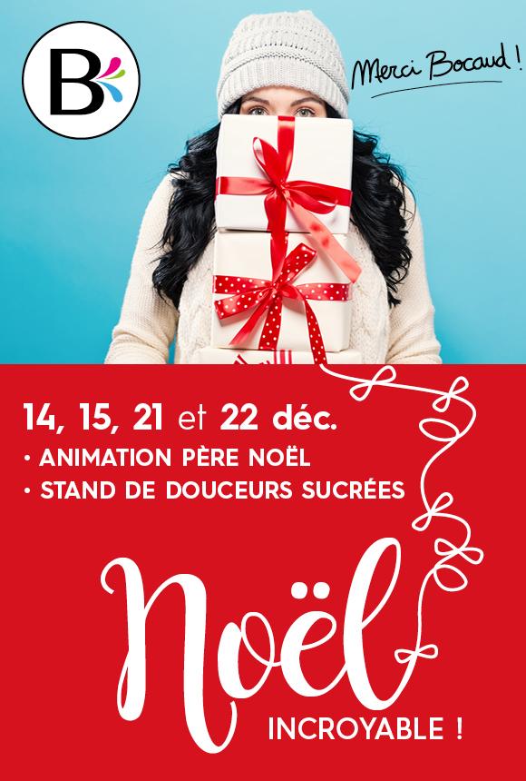 14, 15, 21 et 22 décembre : animation père noël, stand de douceurs sucrées