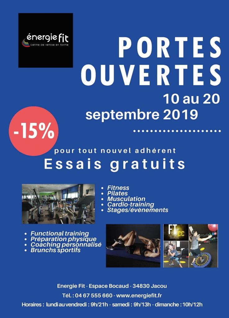 Portes ouvertes du 10 au 20 septembre 2019